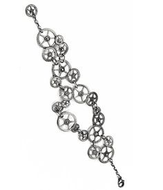I think something like this would be an awesome tat on a wrist or ankle!! Gears Bracelet  http://www.shoptoko.com/shop/brand/tirana-jewelry