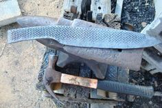 Making a Large camp knife from an old rasp. Part 2