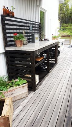 Most Affordable and Simple Garden Furniture Ideas – Diy Garden Outdoor Sinks, Outdoor Kitchen Design, Outdoor Rooms, Outdoor Gardens, Outdoor Living, Outdoor Decor, Simple Outdoor Kitchen, Balkon Design, String Lights Outdoor