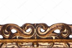 Wooden Carved Golden Element - Stock Photo , #Affiliate, #Golden, #Carved, #Wooden, #Photo #AD Graphic Design Portfolio Examples, White Background Photo, Birds In Flight, Baroque, Royalty, Carving, Stock Photos, Sculpture, Retro