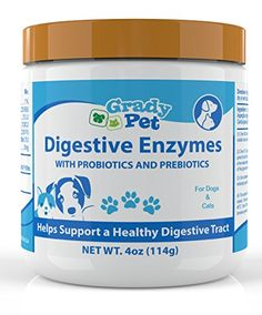 Probiotics Plus Prebiotics and Digestive Enzymes for Dogs and Cats: Digestive Remedy, Vomiting, Allergie,Itch Relief and Loose Stool Formula -- Want to know more, click on the image. #CatHealthSupplies
