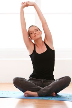 Time to put those worries away for the day and relax w/ an evening session of yoga