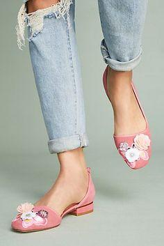 13cf859b7e8557 Bill Blass Lola Embellished Ballet Flats Low Heel Shoes