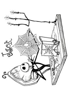 top 25 nightmare before christmas coloring pages for your little ones - Nightmare Before Christmas Coloring Pages