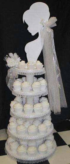 Bride cupcake stand
