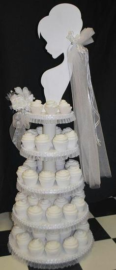 Bride cupcake stand