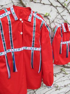 Cherokee Ribbon Shirt Fancy Native American Father Son Set by irishandmore.etsy.com  The ribbon shirt is still the classic Indian shirt in cloth and is worn by Feather dancers, Straight dancers, Gourd dancers, and occasionally by Singers or Master of Ceremony speakers at present day Pow Wows and ceremonial gatherings. Actually, ribbon shirts are proper attire for just about anyone; men & women, Indian & non-Indian. They are worn with slacks, jeans & skirts at Native American events everywher...