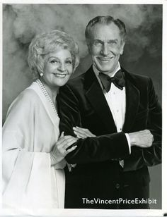 Vincent Price and 3rd wife (1973-1991) actress Coral Browne (in Auntie Mame) were together until her death in 1991 He died 2 years later in 1993. Devoted to each other he became a Catholic for her and she an American citizen for him.