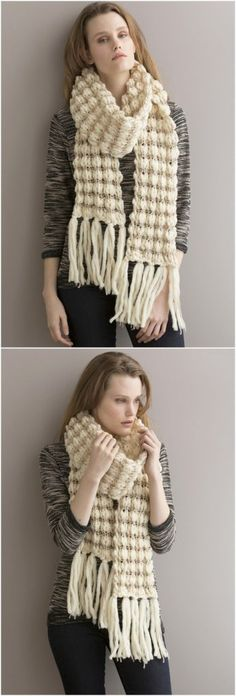 Easy Crochet Scarf Patterns for Beginners: We all know that winter season is common soon and for the ladies wearing scarves is the top most favorite clothing item in their. Crochet Cowl Free Pattern, Free Crochet, Crochet Patterns, Crochet Ideas, Crochet Scarves, Crochet Clothes, Crochet Hats, Owl Scarf, Crochet Simple