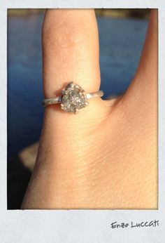 THIS IS THE ONE!  LOVE LOVE LOVE!! Raw Rough Natural uncut Diamond specimen  Promise ring by EnzoLuccati,