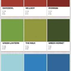 via http://dashperiod.tumblr.com/post/27115949716/pantone-colours-of-superheroes