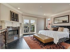 Cozy bedroom with fireplace   2734 North Paulina Street, Chicago, IL Luxury Real Estate Property - MLS# 08728077 - Coldwell Banker Previews International