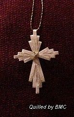 quilled cross - Thank you, Jesus, for what you did for me!