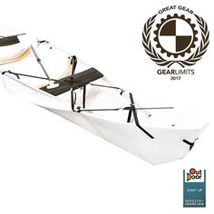 Onaks foldable sustainable canoe wins online GearLimits Great Gear Award spring/summer 2017. See al winners at GearLimits.com #onak #canoe #award #ggga2017 #gear #summer #spring #outdoor #2017 #water #watersports #foldable Folding Boat, Outdoor Brands, Canoe, Kayaking, Spring Summer, Boating, Water, Instagram Posts, Stuff To Buy