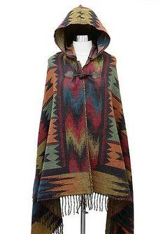 Layer On Aztec Poncho #shopmaude