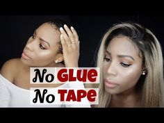 how to Apply Lace Frontal || No glue || No Tape Sewin #howtowearlacewig #naturallookingwig #gluelesslacewig