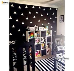 DIY 60pcs Small Triangles Removable Vinyl Wall Stickers for Baby Nursery