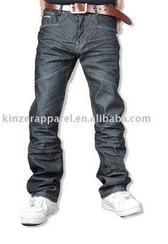 Ronan 100% cotton men's baggy denim jeans