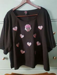 NWT TORRID SHIRT Rebel Wilson torrid love hearts black plus size 5  black/pink   Clothing, Shoes & Accessories, Women's Clothing, Skirts   eBay!