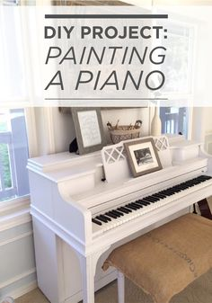 Update a piece of furniture to give your home a more cohesive feel. Little Farmstead shows how easy it is with this DIY project for painting a piano—featuring BEHR MARQUEE paint in White Lie. Furniture Projects, Furniture Makeover, Home Projects, Painted Pianos, Painted Furniture, Pianos Peints, Refinish Piano, Home Living Room, Living Room Decor
