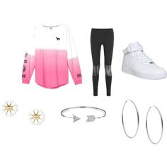 pink by rdejionna on Polyvore featuring interior, interiors, interior design, home, home decor, interior decorating, Sandro, NIKE, Michael Kors and Bling Jewelry