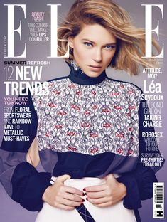 Lea Seydoux featured on the Elle UK cover from June 2016