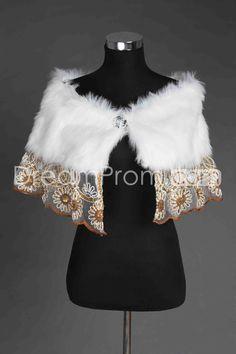 New Style Faux Fur Lace Wedding Shawl