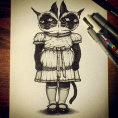 The Siamese Sisters! Herve, Peek A Boos, Siamese, Sisters, Photos, Instagram, Art, Sketches, Art Background