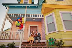 This couple did a costumed photo shoot as Carl and Ellie at the Up house!