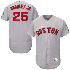 Jackie Bradley Jr. Boston Red Sox Majestic Road Flex Base Authentic Collection Player Jersey - Gray - $314.99