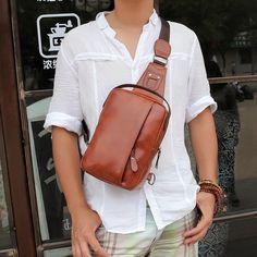 Item Type: HandbagsLining Material: NylonStyle: CasualClosure Type: ZipperGender: MenPattern Type: SolidHardness: SoftNumber of Handles/Straps: SingleShape: PillowMain Material: PUDecoration: None Occasion: VersatileHandbags Type: Messenger Bags Fashion Men, Body Bag, Sling Backpack, Pu Leather, Men Casual, Backpacks, Type, Shoulder, Bags