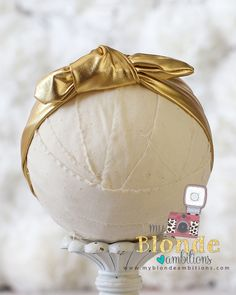 Gold Metallic Aunt Jemimah Headband