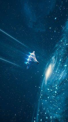 SpaceShip Interstellar Space iPhone Wallpaper - iPhone Wallpapers