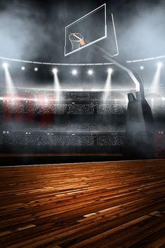 Digital Sports Background - Basketball Stadium