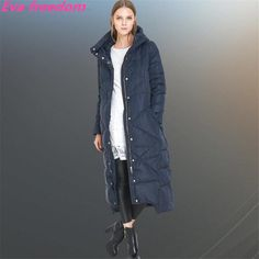 Thicken Thermal Super Warm Women Down Coat EVA FREEDOM  high-quality X-Long blue hooded winter coat white duck down jacket $145.60   => Save up to 60% and Free Shipping => Order Now! #fashion #woman #shop #diy  http://www.yiclothes.net/product/thicken-thermal-super-warm-women-down-coat-eva-freedom-2016-high-quality-x-long-blue-hooded-winter-coat-white-duck-down-jacket/