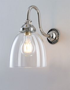 Old School Electric have nice pendants and wall lights. This is Swan Arm Glass Wall Light.