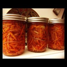Carrot & Onion Slaw - canned...love this! Also love the little story in this piece.