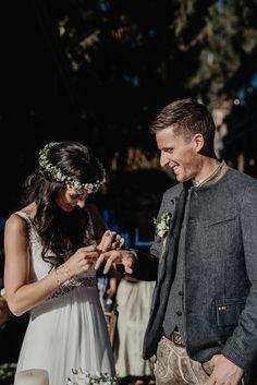 Wedding ring exchange at boho mountain wedding Destination Wedding, Mountain, Wedding Rings, In This Moment, Weddings, Boho, Photography, Getting Married, Celebration