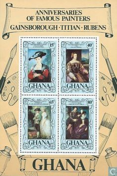 Postage Stamps - Ghana - Famous Painters