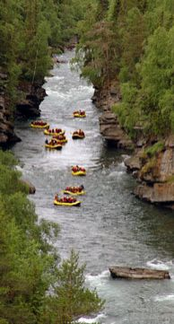 Whitewater rafting, Sjoa, Norway
