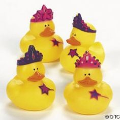 Princess Rubber Duckies.  Ideal for party bags or table decorations!