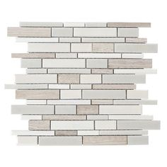Elida Ceramica Crackled Linear Silk Glazed Porcelain Mosaic Indoor/Outdoor Wall Tile (Common: x Actual: x possibilty for backsplash Outdoor Kitchen Countertops, Kitchen Backsplash, Backsplash Ideas, Kitchen Appliances, Kitchen Counters, Grey Backsplash, Kitchen Cabinets, Kitchen Laminate, Rustic Backsplash