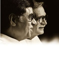Indias dynamic duo- Ghazal King, the late Jagjit Singh along with Gulzar, leading Hindi-Urdu poet, lyricist and director Jagjit Singh, Koi, Vinyl Records, Album, Memories, Music, Movie Posters, Writers, Artists