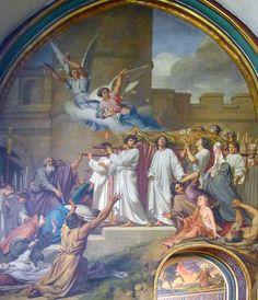 P1320234 Paris IV eglise St-Gervais-St-Protais fresque rwk - Église Saint-Gervais-Saint-Protais de Paris — Wikipédia