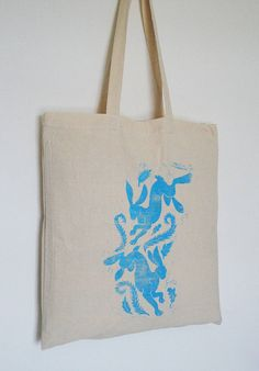 playing hares cotton tote bag by kat whelan illustrations | notonthehighstreet.com
