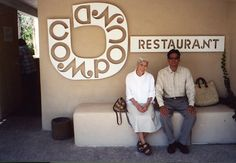 At the Compound restaurant in Santa Fe. Alexander Girard designed the interior in the late 60s.