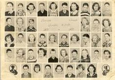 Group school pictures, I still have my 2nd grade picture.  I framed it along with a school group picture of my mother's and grandmother's.  A nice grouping.