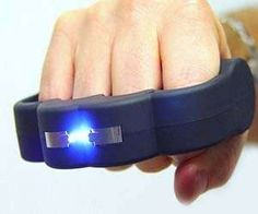 I should start running with these on. Electric Knuckle Guards