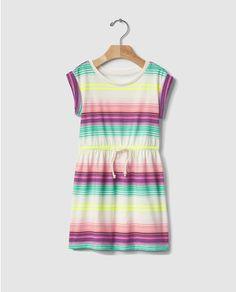 Vestido de niña Gap con estampado multicolor