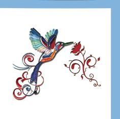Quilled hummingbird